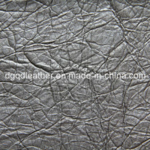 Special Embossed Design for Sofa PU Leather (QDL-52032) pictures & photos