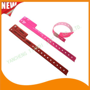 Entertainment 1 Tab Vinyl Wristbands ID Bracelet (E6070-1-9) pictures & photos