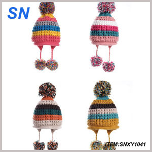 Custom Winter Knitted POM POM Beanie Hats Wholesale pictures & photos