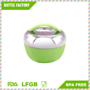 Gtx Stainless Steel Double Layer Bento Lunch Box Portable Food Container Meal Storage Box, Green pictures & photos