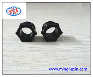 Black Plastic Round Injection Part with ISO SGS
