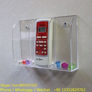 Wall Mounted Acrylic Remote Control Holder Rack pictures & photos