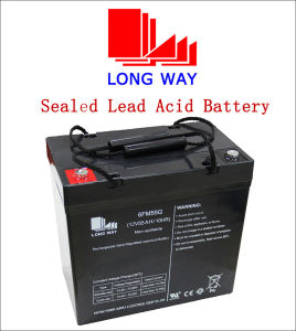 12V55ah Solar Deep Cycle Seal AGM Gel Battery pictures & photos