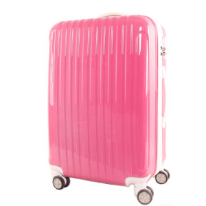 Pinkycolor ABS+PC Trolley Luggage Bag with White Accessories