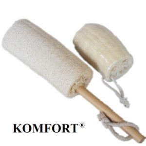 Long Handle Natrual Loofah Brush Wholesale Body Loofah Sponge (KLB-011) pictures & photos