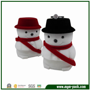 Lovely Christmas Snowman Shape Plastic Gift Box pictures & photos