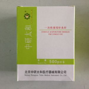 0.25X40mm Zhongyantaihe Brand Disposal Acupuncture Needles 500 PCS/Box pictures & photos