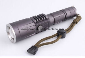 Zoom USB Rechargeable Pocket Aluminum CREE Xml-T6 LED Flashlight