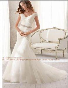 2015 Asymmetrically Soft Bridal Wedding Dresses (WD5210) pictures & photos