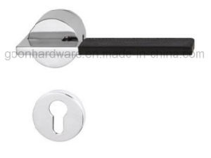 High Quality Zinc Alloy Door Handle on Rose 201 pictures & photos