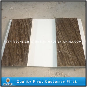 Cheap Chinese Coffee Brown Marble Tiles for Kitchen Wall, Floor pictures & photos