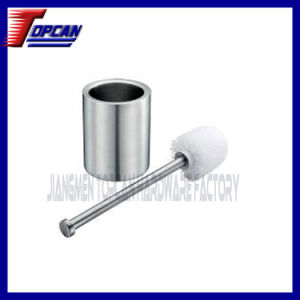 Double Layer Toilet Brush with Cylindrical Holder
