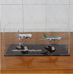 Clear Acrylic Display Box with Lock for Model Plane (BTR-Y5011) pictures & photos