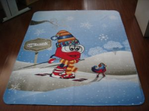 100% Polyester Printed Blanket (SSB0106) pictures & photos
