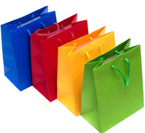 Customize Paper Bags With Logo Print (WB-04) pictures & photos