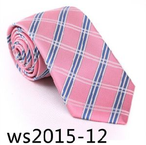 New Design Fashionable Silk/Polyester Check Necktie Ws2015-12 pictures & photos