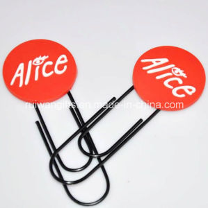 Custom Soft PVC Rubber Office Paper Clip pictures & photos