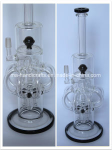 """15"""" Creative Handle Percolator Smoking Glass Water Pipes Tobacco Pipe pictures & photos"""