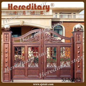 Exterior Latest Metallic Automatic Main Gate Design (SJ-M003) pictures & photos