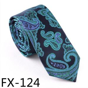New Design Fashionable Novelty Paisley Necktie (Fx124) pictures & photos