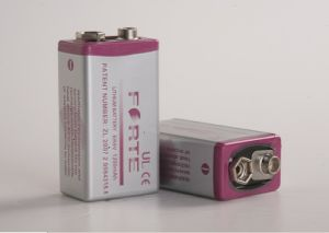 9 Volt Lithium Battery Flat 6f22 Akaline Battery pictures & photos