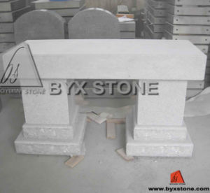 American Style Grey Stone Bench Memorial / Cemetery Monument pictures & photos