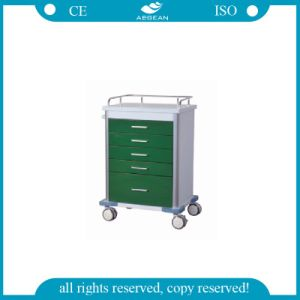 AG-GS001 New Design Dark Green Medical Trolley pictures & photos