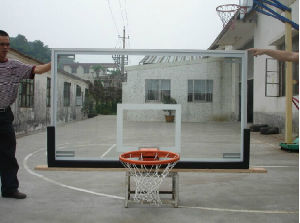 Outdoor Glass Basketball Board with Aluminium Frame pictures & photos
