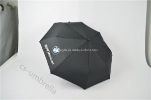 Solid Pongee Fabric Auto Open&Close 3 Fold Umbrella (YS3F0010) pictures & photos