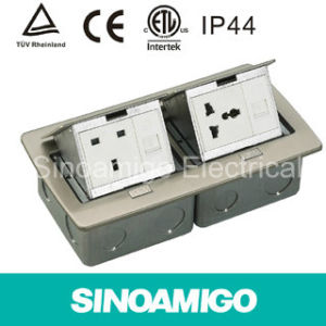 IP44 Waterproof Floor Box Outlet Duplex Floor Socket pictures & photos
