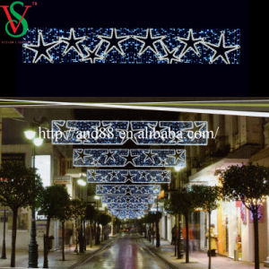 LED Christmas Motif Cross Street Light with Fancy Star pictures & photos