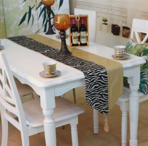 Metallic Print Table Runner Decorative PU Table Flag (JTR-59) pictures & photos