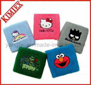 Sports Terry Embroidery Cloth Cotton Wristband pictures & photos
