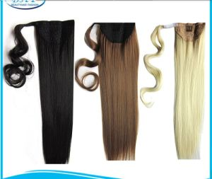 Brazilian Human Hair Ponytail Extensions Drawstring Ponytail Human Hair 9 Color Available Clip in Pony Tail pictures & photos