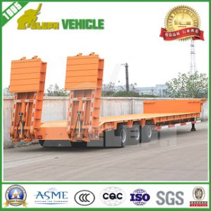 Heavy Duty 60 Ton Low Flatbed Semi Trailer Low Loader pictures & photos