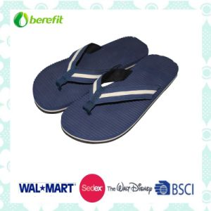 TPR Sole and PU Straps, Men′s Beach Slippers pictures & photos