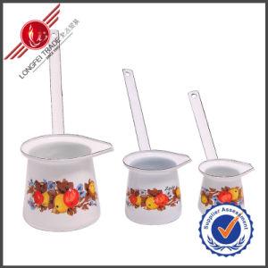 5/6/7/8/9cm Funnel Handle Enamel Turkish Coffee Pot Kettle pictures & photos