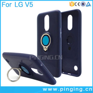 Rubber TPU Metal Car Phone Holder Case for LG LV2/LV3/LV5 pictures & photos