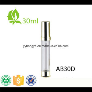 Shiny Gold Airless Pump Cosmetic Serums Bottle pictures & photos