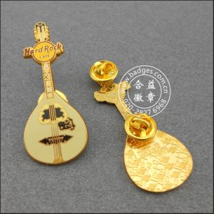 Lute Shape Lapel Pin, Guitar Badge (GZHY-LP-044) pictures & photos