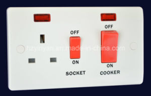45A Kitchen Switch + 13A Switched Socket with Neon (V332)