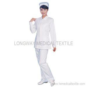 White Color Nurse Uniform for Winter (T-1003)