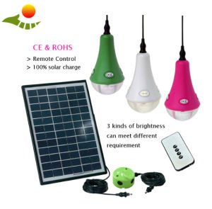 12PCS LED Lamp with Remote Control in Stock Indoor Solar Lamp pictures & photos