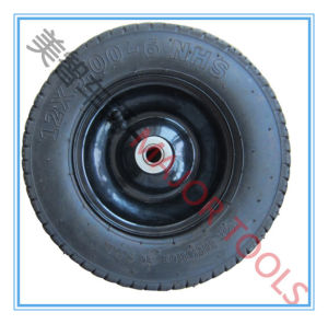 Good Quality 3.00-6 Pneumatic Rubber Hand Trolley Wheel pictures & photos