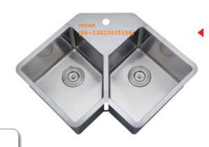 Stainless Steel Topmount Double Bowl Handmade Sink for Kitchen with Cupc pictures & photos