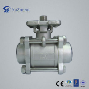 3PC Stainless Steel Bw Ball Valve with ISO5211 Pad pictures & photos