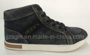 Fashion High Top Casual Street Washed Denim Shoes pictures & photos