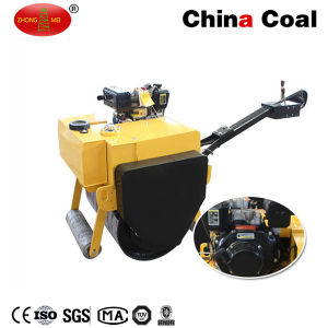 Gaseoline Walk-Behind Double Drum Vibratory Road Roller pictures & photos
