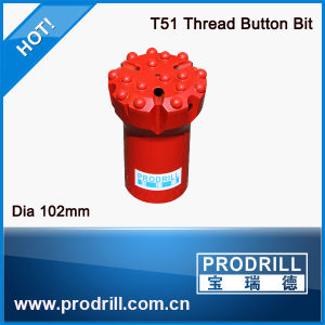 Flat Face / Concave Face Spherical Buttons Thread Drill Bit pictures & photos
