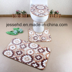 Hot Sale Beautiful Coral Fleece Mat Bahtroom Rugs Set pictures & photos
